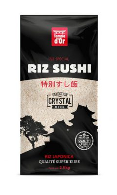 Riz sushi Temple d'Or